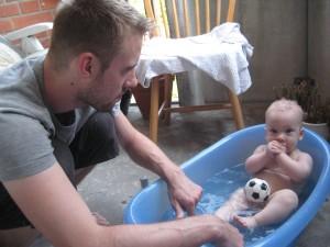 Idag skulle det passa med ett bad