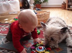 Tim på besök förra veckan, Watson vill leka